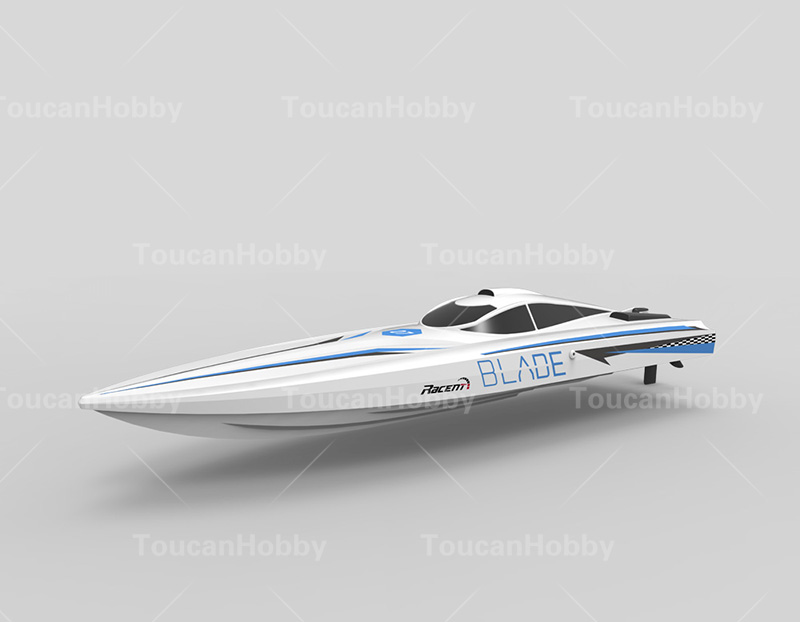 Volantex Blue Blade ABS <font><b>Hull</b></font> RTR RC Racing <font><b>Boat</b></font> <font><b>Model</b></font> W/ Motor Servo ESC Battery THZH0089 image
