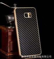 Элитная углерода Волокно задняя крышка + изысканный Алюминий металла Рамки мобильный Телефонные Чехлы для Samsung Galaxy Note 5 N9200 чехол