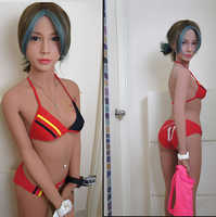 Sex dolls Japanischen silikon sex puppe frau Tpe 155cm Echt sex puppe kleine brust erwachsene leben größe silikon liebe puppe volle körper