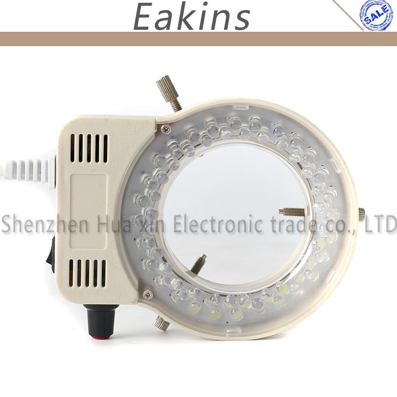 Adjustable 56 LED Ring Light illuminator Lamp For CCD COMS Industry Stereo Microscope Digital Video Camera Magnifier 110V-240V