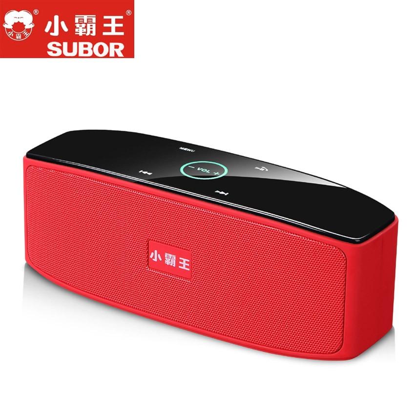 Subor D80 HIFI сенсорным Управление Беспроводной стерео HIFI Динамик Bluetooth гарнитуры большой Батарея тяжелый бас сабвуфер, аудио-box