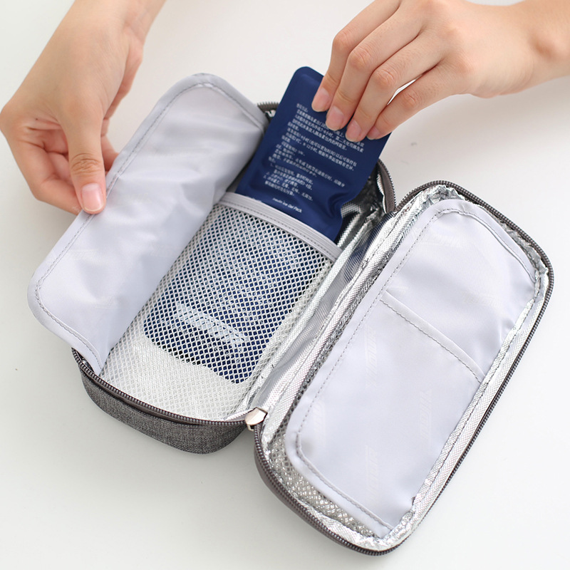 new Medical cooler bag Insulin portable refrigerated box Drug insulated bag ice bag Environmentally 1 box of 2 ice packs