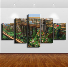 Minecraft Game 5 Piece Home Decor Canvas HD Print Wall Art For Living Room Painting Wall Art Painting Canvas Modern Decorative ravnica allegiance game modern home decor hd print wall art canvas art for living painting wall art 5 piece home painting