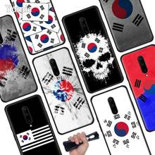 Korean Flag Black Soft Case for Oneplus 7 Pro 7 6T 6 Silicone TPU Phone Cases Cover Coque Shell