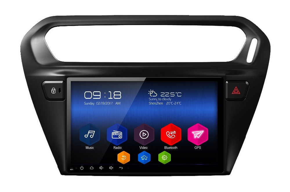 android6 0 car multimedia player headunit audio tape recorder for Citroen C Elysee Peugeot 301 2013