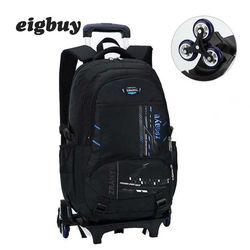 Ziranyu последние съемные детские школьные сумки 2/6 колёса Лестницы Детские рюкзаки для мальчиков и девочек школьный ранец на колесиках чемода...