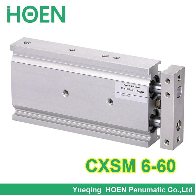 ФОТО CXSM6-60 SMC Type CXSM 6-60 Compact Type Dual Rod Cylinder Double Acting 16-60mm Accept custom