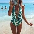 Vessos Women Bikinis 2017 Maternity One Piece Leaves Swimwear Swimsuit Biquini