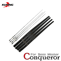 KUYING Conqueror 1.95m 1.98m 2m 2.05m Fast Action Carbon Lure Casting Fishing Rod Fish Pole BASS Master 1 Section Hard Soft Cane