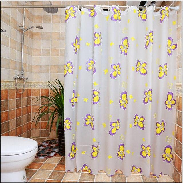 Bathing Waterproof Bathroom fabric shower curtain 1pcs butterfly ...