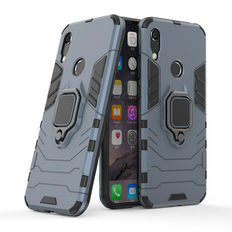 3D Ring Armor Case for <font><b>Huawei</b></font> Honor 8A Pro Play 8A for <font><b>Huawei</b></font> <font><b>Y6</b></font> Prime <font><b>2019</b></font> <font><b>Y6</b></font> Pro <font><b>2019</b></font> Car Holder Phone Back Cover Case <font><b>Fundas</b></font> image