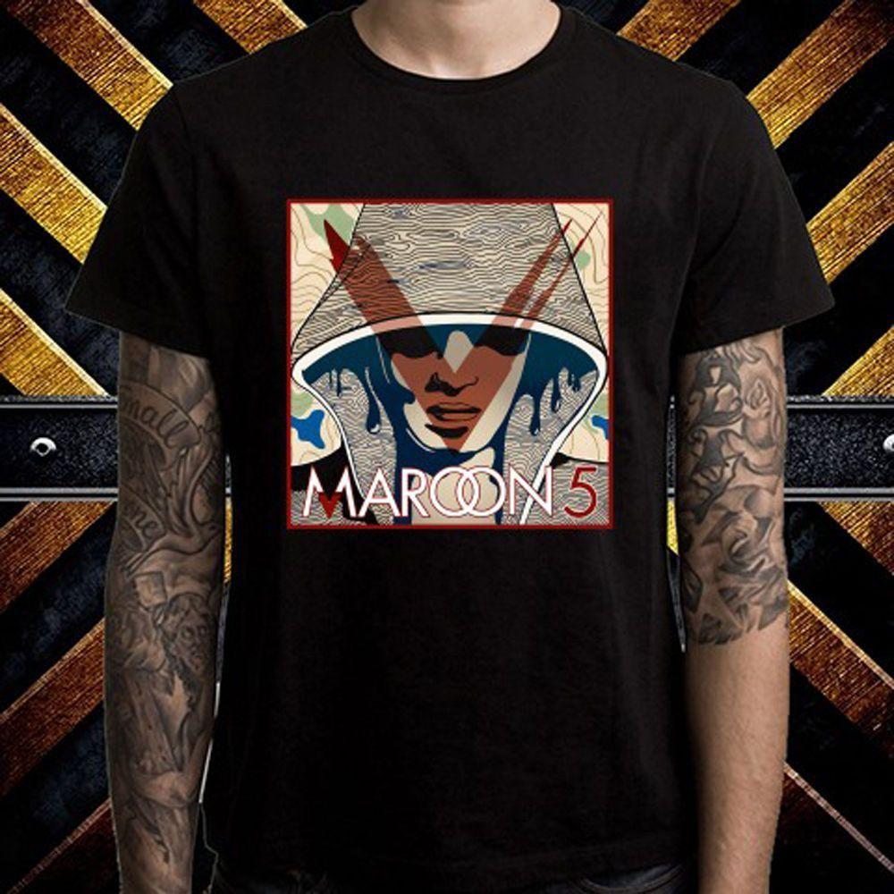New Maroon 5 Pop Rock Band Logo MenS Short Sleeve T shirt Cotton