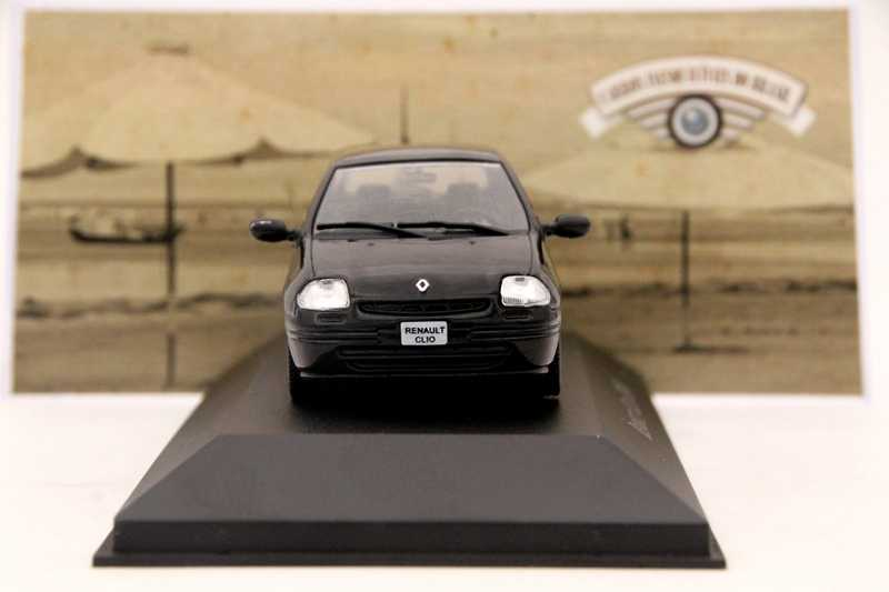 IXO Altaya 1:43 Scale Renault Clio 2000 Car Diecast Models Toys Limited Edition Collection Black
