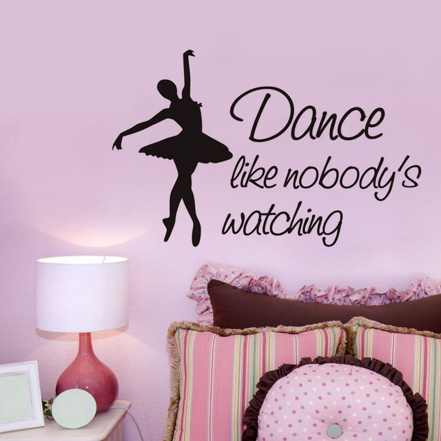 Vinyl Home Decor Wall Sticker Quotes Dance Like Nobody\'s Watching ...