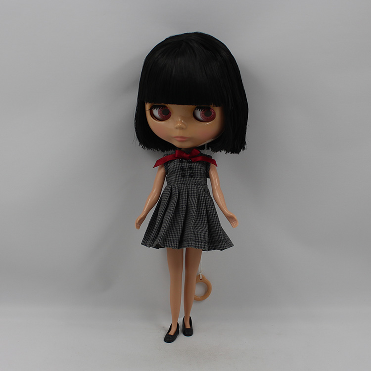 Bjd 1/6 doll nude Blyth doll black bangs short hair black muscle doll makeup for face girls love DIY change dolls for sale uncle 1 3 1 4 1 6 doll accessories for bjd sd bjd eyelashes for doll 1 pair tx 03