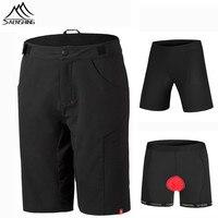 Saenshing New Cube Shorts Men Cycling Downhill MTB Bicycle Shorts 3D Pad Underwear Cube Cycling Shorts