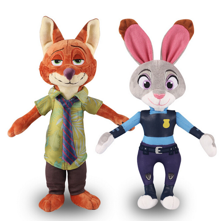 1 PC 30cm Movie Zootopia the Rabbit Judy Hopps Fox Nick Wilde Plush Toy Cute Zootropolis Plush Soft Doll for Kids mini qute full set 2 pcs lot hc zootopia huge nick wilde judy hopps plastic building block cartoon model educational toy no 9011