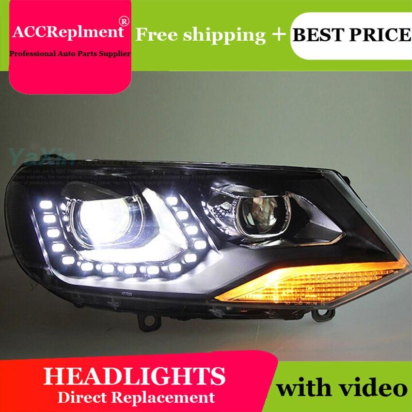 AUTO. PRO 2011-2014 Per Il vw touareg fari styling auto LED per vw touareg DRL lacrima occhi xenon bi xenon fari lenti di parcheggio