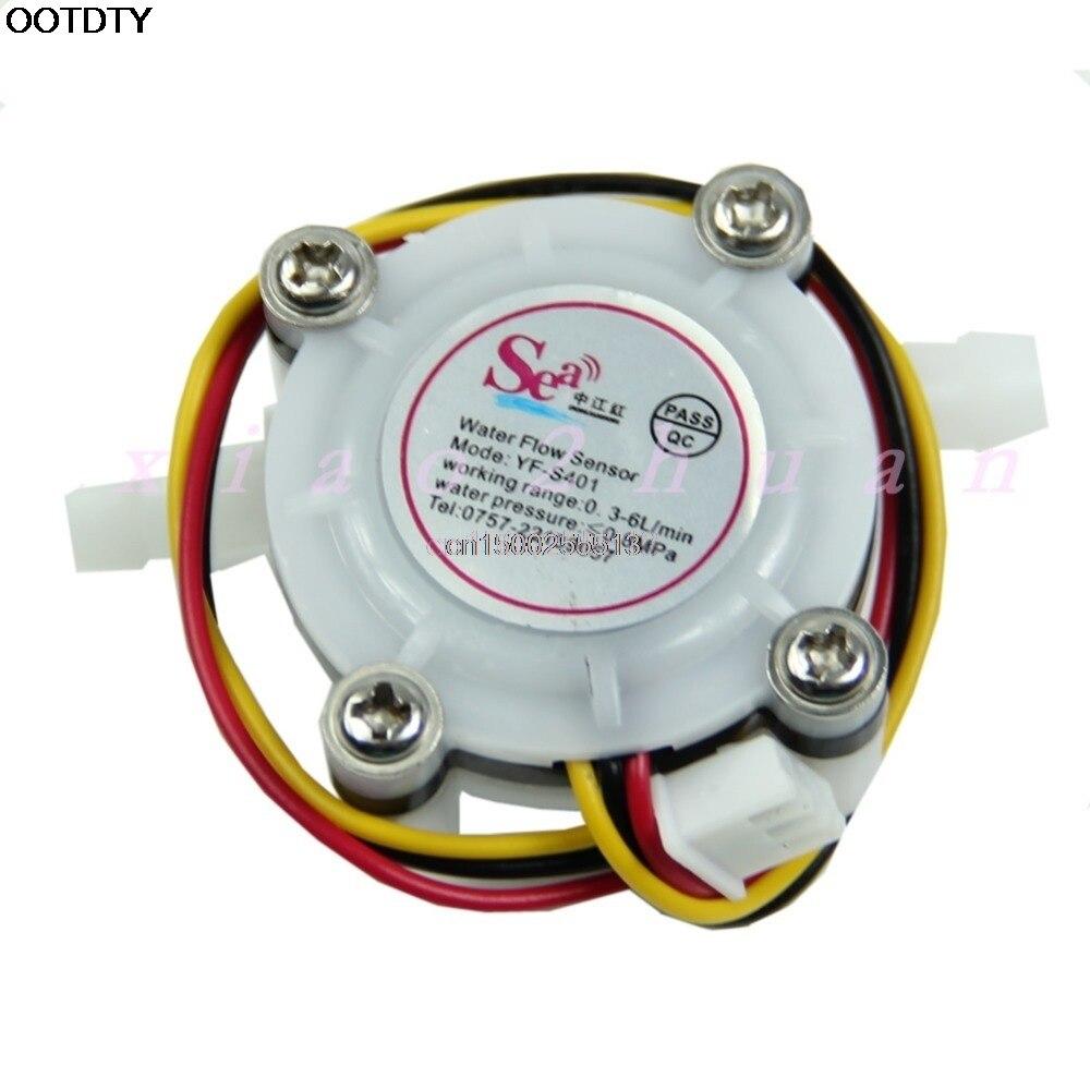 Durchflussmesser Werkzeuge 1 Stück Wasser Kaffee Flow Sensor Schalter Meter Durchflussmesser Zähler 0,3-6l/min Neue