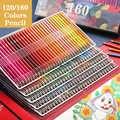 Brutfuner 120/160 couleurs professionnel crayons de couleur à l'huile ensemble artiste peinture esquisse bois couleur crayon école Art fournitures