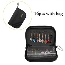 16Pcs/bag Fishing Lures Set Metal Sequins with Barbed Triple Hooks Artificial Hard Baits Kit Pesca