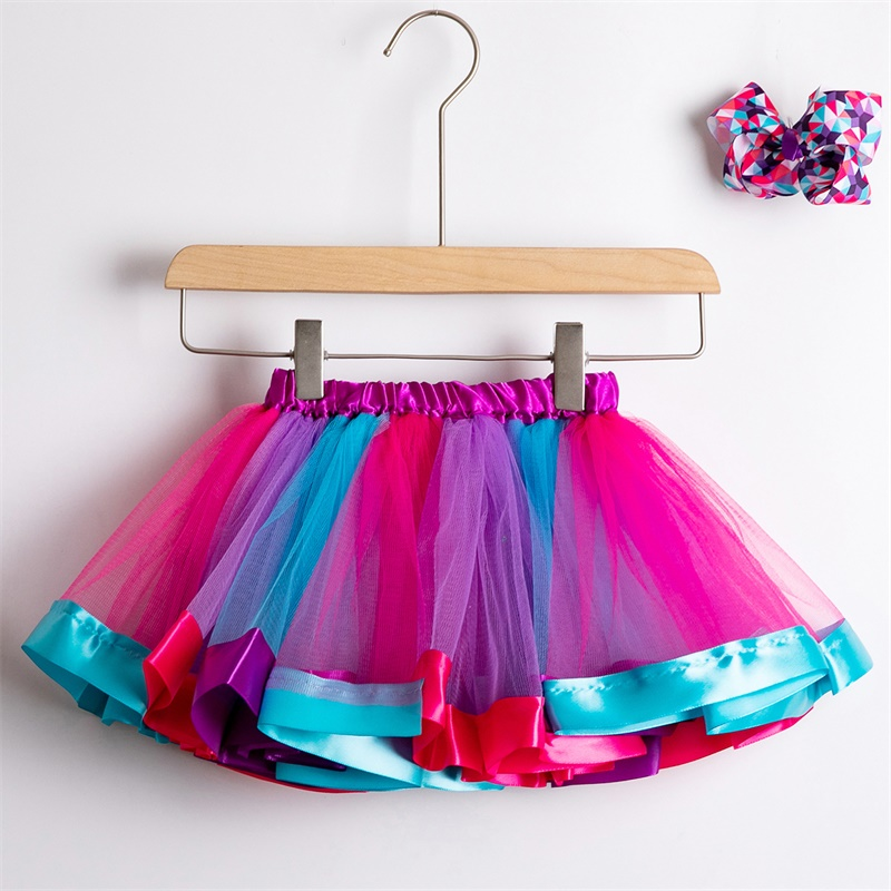 Юбка-пачка; юбки для маленьких девочек от 1 до 8 лет; юбка-американка принцессы; фатиновые юбки радужной расцветки для вечеринок и танцев; Одежда для девочек; одежда для детей