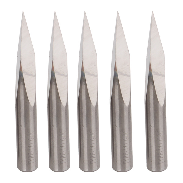 Carbide Steel 20 Degree 6mm CNC Router Triangular Pyramid Engraving Bits Pack Of 5