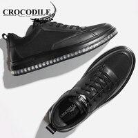 Крокодил оригинальный Для мужчин Повседневное кроссовки из кожи мужской Скейтбординг обувь амортизацию спортивная обувь для Для мужчин вы