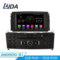 LJDA 1 Din Android 8.1 Car DVD Player For Mercedes Benz C200 C180 W204 2007 2010 WIFI Car Multimedia Player GPS Navi Car Radio