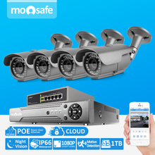 4CH Home Security Camera POE System HDMI NVR Network Video Record 1080P Full HD 4pcs 2.0MP camera 1pcs 4ch 802.3af switch