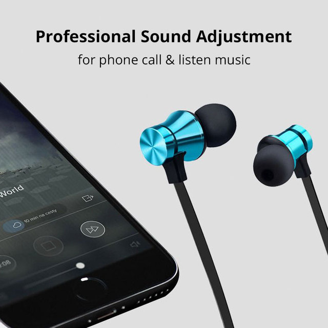 Noise Cancelling Wireless Earphones Bluetooth Headset Magnetic Sport Earbuds with Mic for Meizu Huawei Sony for Xiaomi iPhone