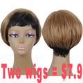 Promotional Products Short Wigs for Black Women Blonde Wig Dark Roots Synthetic Pixie Cut Wig Cheap African American Wigs