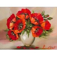 New Picture Red Poppy Flowers Mazayka Diamond Painting Mosaic Pattern Rhinestone 5d Diy Diamond Embroidery 3D