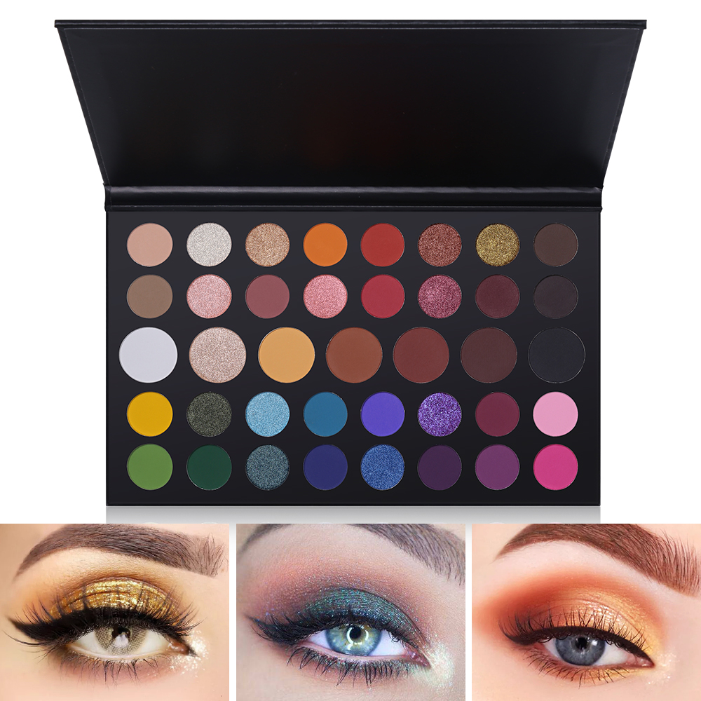 Beauty Essentials Popfeel High Pigment Matte Eyeshadow Eyes Makeup Pallete Shimmer Eye Shadow Palette Glitter Waterproof Lasting Makeup Easywear