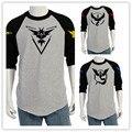 Nueva Autunm Masculinos Priting Camiseta de Los Hombres T-shirt Tamaño EE.UU. Moda Pokemon Ir Patchwork Camiseta Ocasional Delgada Camiseta