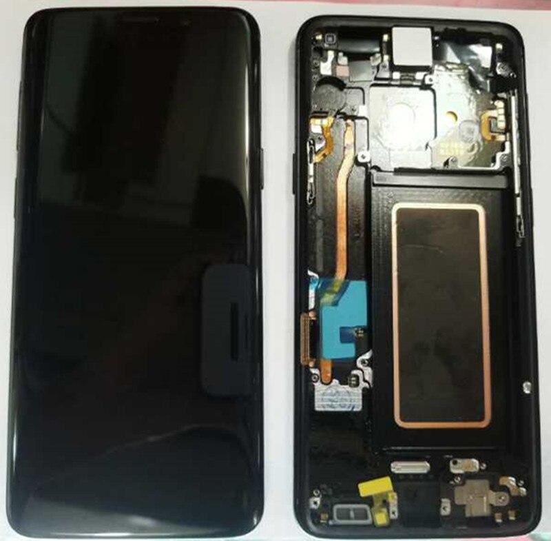 100% Super AMOLED LCD Pour Samsung Galaxy S9 G960F G960U G960 S9 Affichage Tactile Assemblée D'écran + Cadre 5.8 remplacement + Outils