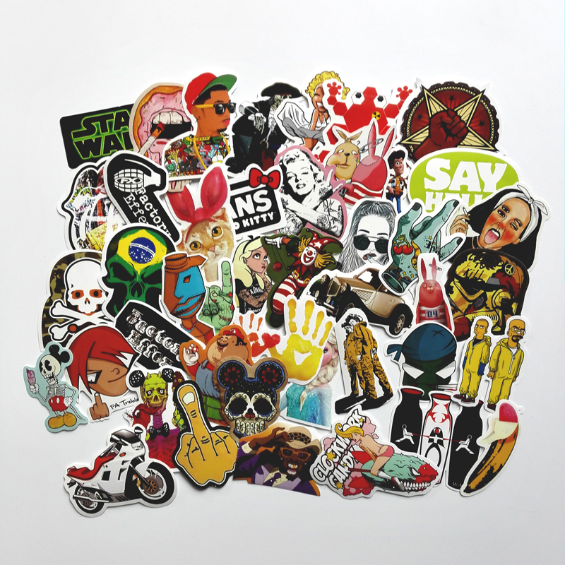 50 pcs Mixed funny hit stickers for kids Home decor jdm on laptop sticker decal fridge skateboard doodle stickers toy stickers totoro fridge stickers fridge magnite magnetic stickers car style home decor cell decor cartoon animal action figure toys