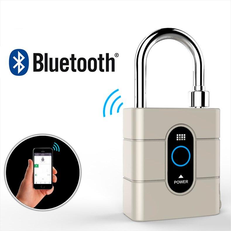 Новейшее беспроводное управление мини-замки для сумок Smart Bluetooth Padlock Anti-Theft дверной замок для IOS Android APP управление