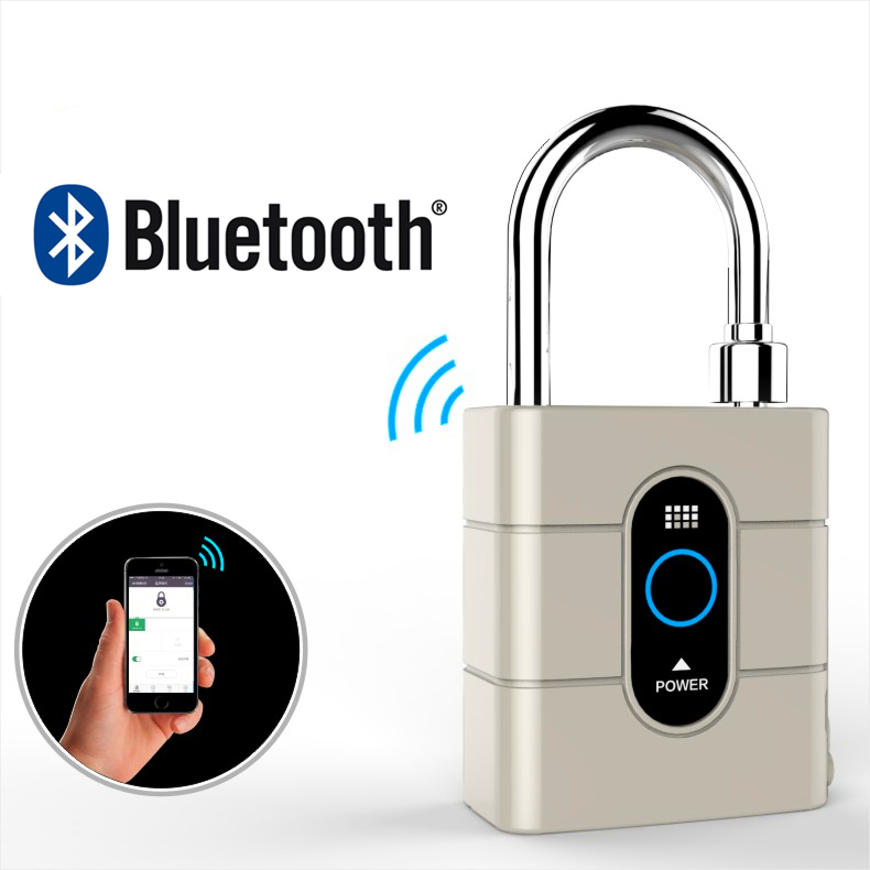 Newest Wireless Control Mini Padlocks Smart Bluetooth Padlock Anti-Theft Alarm Door Lock for IOS Android APP Control mooyee smart relaxer wireless smart bluetooth massage for smart phone ios android app control