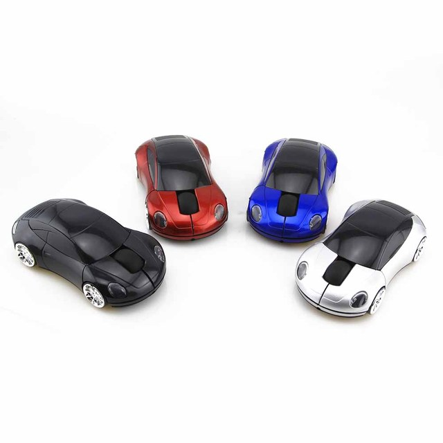 2016 Hot Sports Car Shape 3D Optical Mouse Wireless Gaming Gamer Mouse Mice Game Mouse 1600 DPI  For Laptop PC