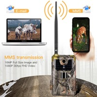 4G MMS SMS Email 20MP Trail Camera Wildlife Hunting Cameras HC900LTE 1080P 0.3S Trigger Infrared With Antenna Wild Surveillance
