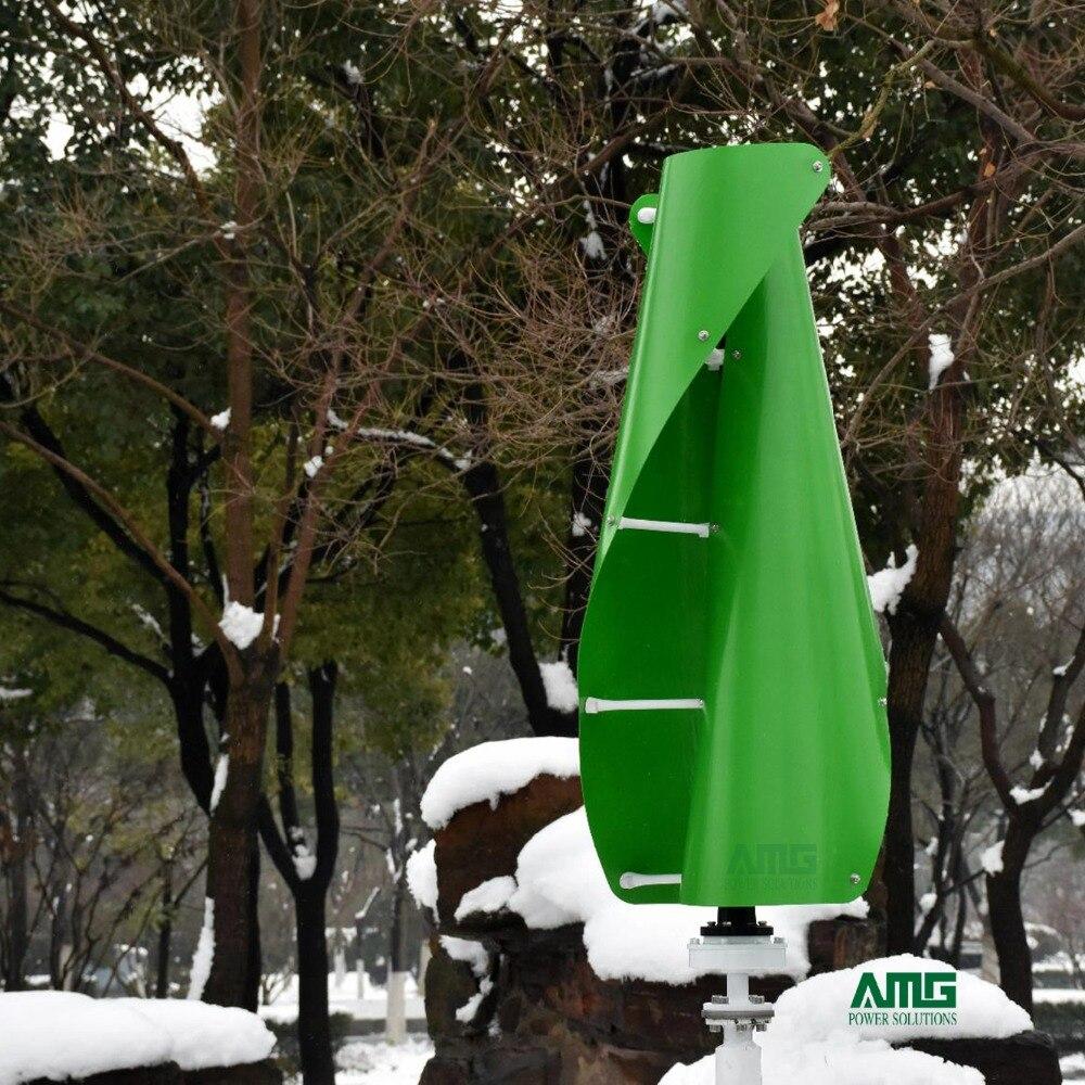 600 W 500 W 400 W 12 V 24 V helicoidal de viento generador de turbina espiral VAWT eje Vertical uso residencial con controlador de cargador PWM/MPPT