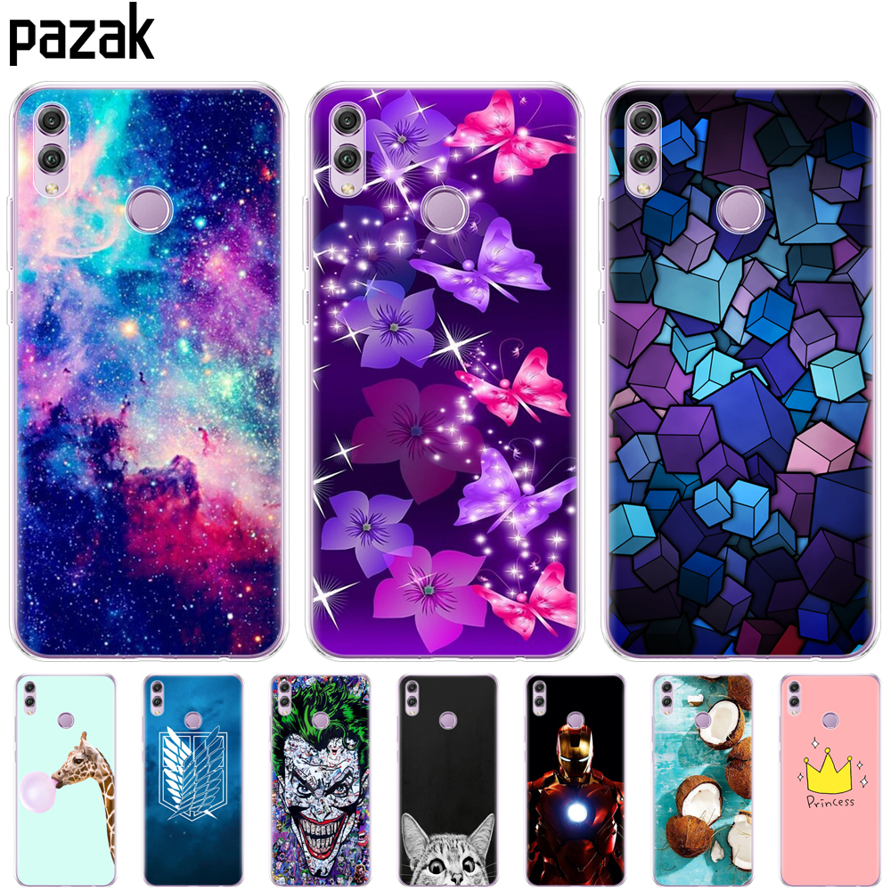 Silicone Case For Huawei Honor 8x Case 6.5 Inch Soft TPU Back Phone Cover For Huawei Honor 8x Protect Painting Shell Coque Bags