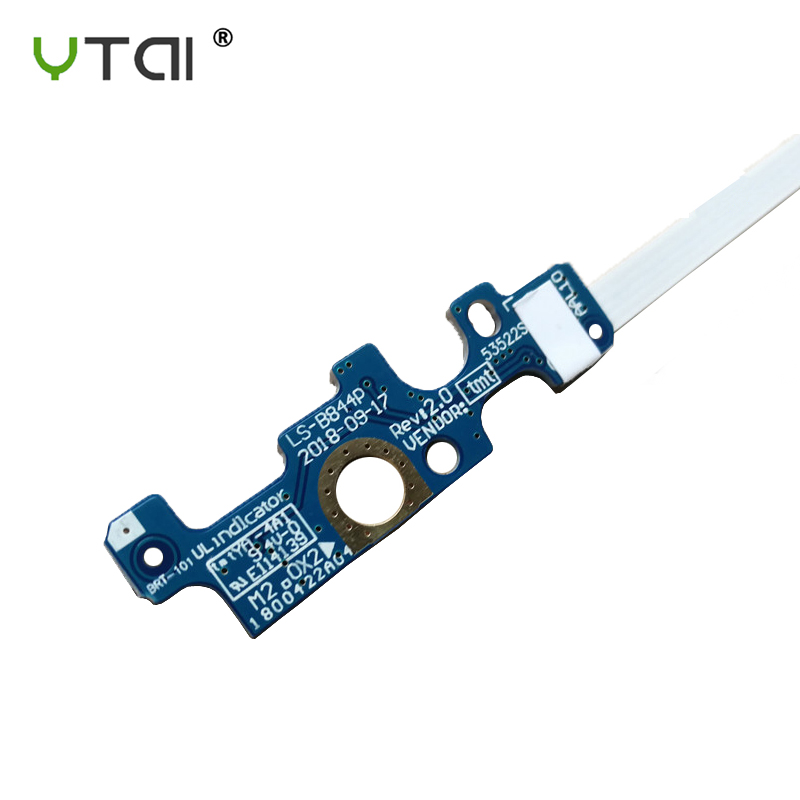Image 3 - for Dell Inspiron 15 3558 5551 5555 5558 5559 17 5755 5758 5759 14 5455 power button switch board LS B844P rev 1.0-in Computer Cables & Connectors from Computer & Office