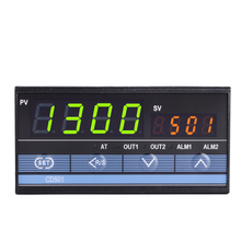 وحدة تحكم حرارية CD501 96*48 مللي متر من النوع الأفقي للتحكم في درجة الحرارة PID ، مستشعر إشارة الإدخال حراري K ، مخرج مرحل