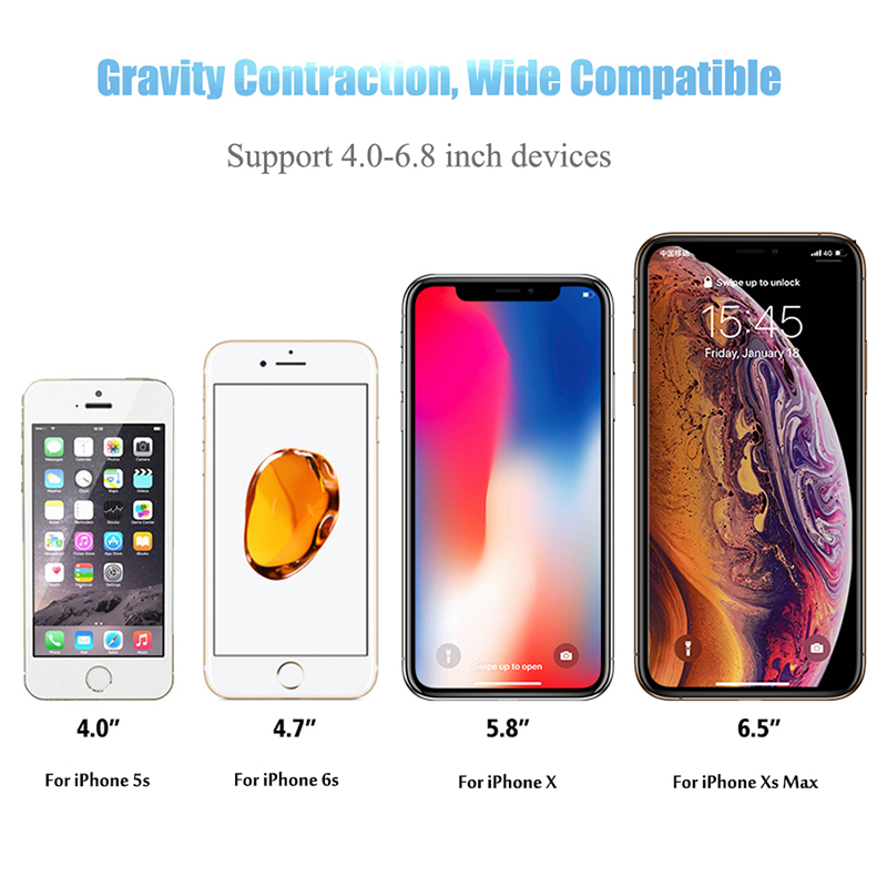 Gravity Reaction Car Mobile Phone Holder Clip Type Air Vent No Magnetic Mount GPS Car Smartphone Stand For iPhone X 7 Samsung S9 in Phone Holders Stands from Cellphones Telecommunications