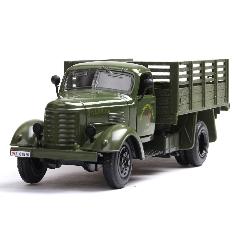 1:32 Scale Army Green Jiefang military truck Vehicle Car Model Toy w// Sound