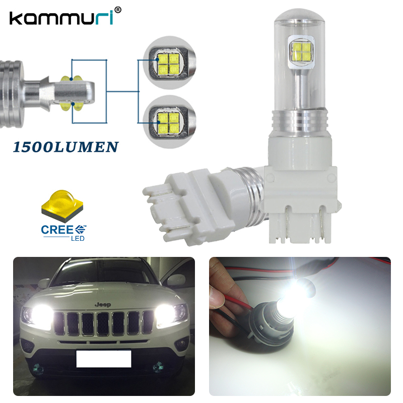 Car Lights For Jeep Cherokee Commander Compass Liberty Excellent Ultra Bright 3157 Dual-color Switchback Led Drl+front Turn Signal Light
