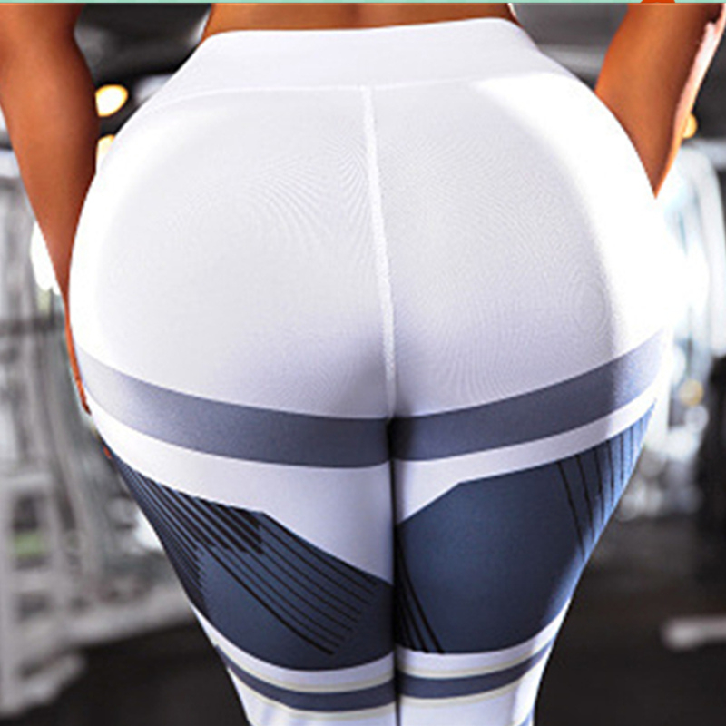 3D printing Fitness Leggings Women Push Up High Waist Jeggings Pants Female Summer Quick dry Stretch Sexy Workout Gray Legging in Leggings from Women 39 s Clothing