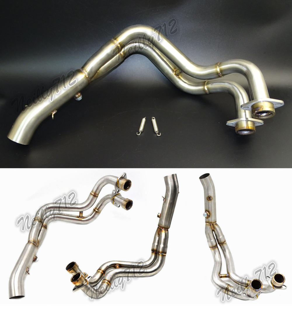 Motorcycle Middle Exhaust Header Pipe Tube Manifold For YAMAHA MT 07 FZ 07 MT07 FZ07 2014